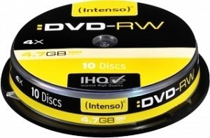 Intenso DVD-RW 4.7GB 4x, 10-pack Spindle (4201132)