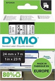 Dymo D1 labelling tape 24mm, black/transparent (53710 / S0720920)