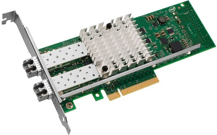 Intel X520-SR2 Server adapter, 2x 10GBase-SR, PCIe x8, low profile (E10G42BFSR)