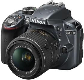 Nikon D3300 grau mit Objektiv AF-S VR DX 18-55mm 3.5-5.6G II (VBA392K001)