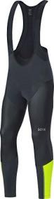 Gore Wear C7 Partial Gore Windstopper Pro Bib Tights Radhose lang black/neon yellow (Herren) (100271-9908)