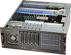 Supermicro 842XTQ-606B black, 4U, 600W redundant