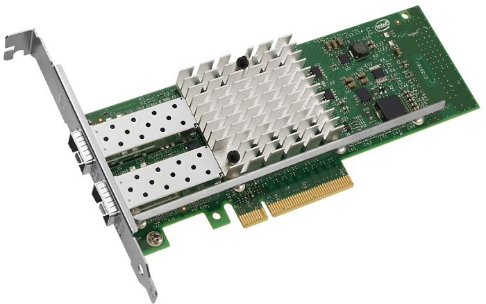 Intel X520-DA2 Server adapter, 2x 10GBase SFP+ Direct Attach, PCIe x8, low profile (E10G42BTDA)