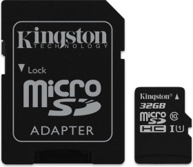 Kingston R45 microSDHC 32GB Kit, UHS-I, Class 10 (SDC10G2/32GB)