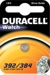 Duracell 392/384 (SR41) round cell, silver oxide, 1.5V