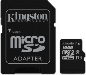 Kingston R45 microSDHC 16GB Kit, UHS-I, Class 10 (SDC10G2/16GB)