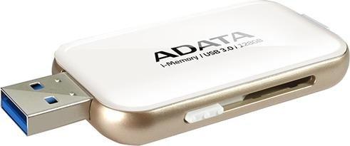 ADATA i-Memory UE710 Lightning weiß 128GB, USB-A 3.0/Lightning (AUE710-128G-CWH)