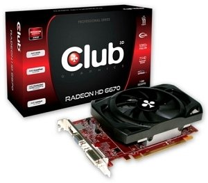 Club 3D Radeon HD 6670, 1GB DDR3, VGA, DVI, HDMI (CGAX-66724ZI)