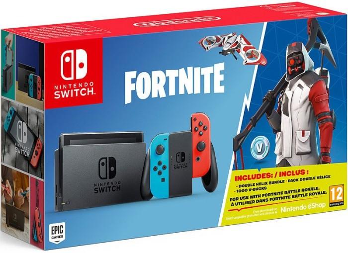 Nintendo Switch - Fortnite Bundle schwarz/blau/rot