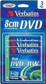 Verbatim DVD-RW 1.4GB 2x, 3-pack (43593)
