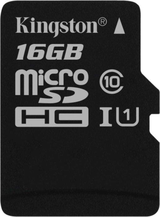 Kingston microSDHC 16GB, UHS-I/Class 10 (SDC10G2/16GBSP)