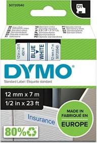 Dymo D1 labelling tape 12mm, blue/white (45014 / S0720540)