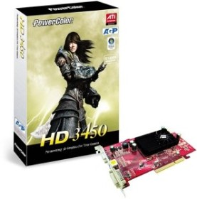 PowerColor Radeon HD 3450, 512MB DDR2, VGA, DVI, TV-out (R62BG-NE3)