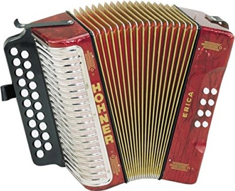 Hohner Erica accordion (various types) -- via Amazon Partnerprogramm