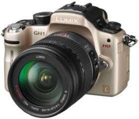 Panasonic Lumix DMC-GH1 gold mit Objektiv Lumix G Vario HD 14-140mm 4.0-5-8 OIS (DMC-GH1K)