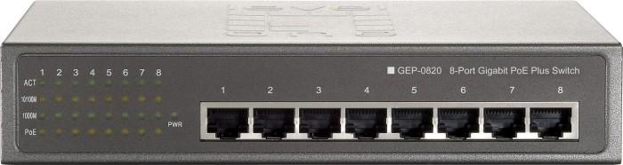 Level One GEP Desktop Gigabit Switch, 8x RJ-45, 87W PoE+ (GEP-0820W90)
