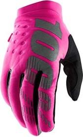 100% Brisker Fahrradhandschuhe neon pink/black (Damen) (11016-263)