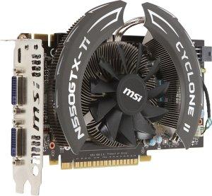 MSI N550GTX-Ti Cyclone II, GeForce GTX 550 Ti, 1GB GDDR5, 2x DVI, mini HDMI