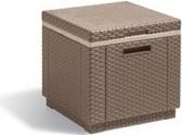 Jardin Allibert Ice Cube side table/cooling box cappuccino (229271)