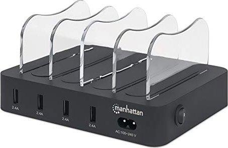 Manhattan 4-Port USB-Ladestation schwarz (102261) -- via Amazon Partnerprogramm