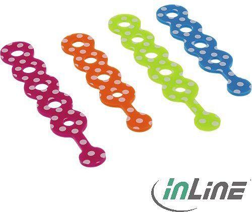 InLine Kabelbinder für Headsetkabel etc., 4er-Pack, bunt (55468M)