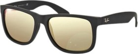 Ray-Ban RB4165 Justin Classic 54mm schwarz/light brown-mirror gold (622/5A)