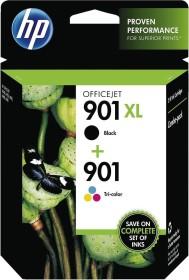 HP Druckkopf mit Tinte 901 schwarz/dreifarbig Kombipack (SD519AE)