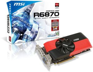 MSI R6870-2PM2D1GD5/OC, Radeon HD 6870, 1GB GDDR5, 2x DVI, HDMI, 2x mini DisplayPort (V245-022R)