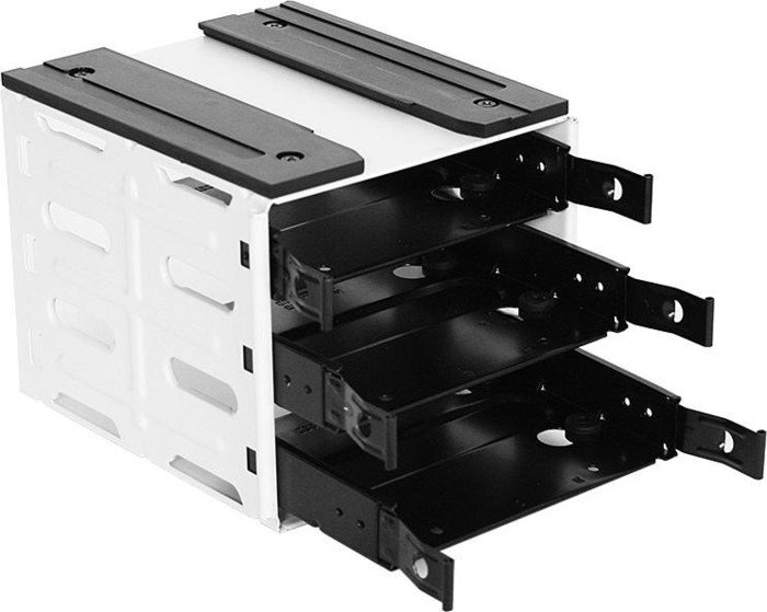 Nanoxia 3-Bay HDD Cage weiß, Festplattenkäfig