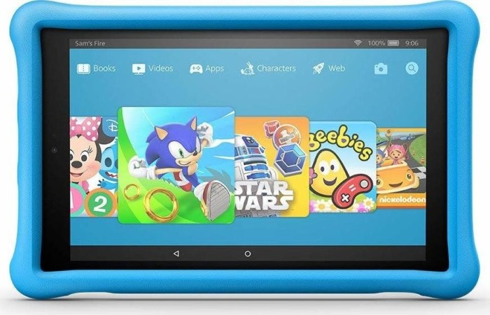 Amazon Fire HD 10 KFSUWI 2017, ohne Werbung, 32GB, blau, Kids Edition (53-008726/53-008724)
