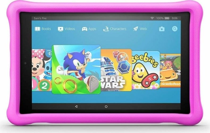 Amazon Fire HD 10 KFSUWI 2017, ohne Werbung, 32GB, pink, Kids Edition (53-008727/53-008725)