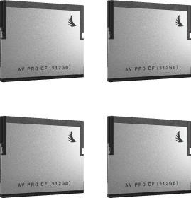 Angelbird R550/W490 CFast 2.0 CompactFlash Card [CFAST2.0] AV PRO 512GB, 4er-Pack (AVP512CFX4)