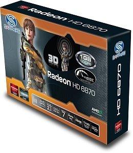 Sapphire Radeon HD 6870, 1GB GDDR5, 2x DVI, HDMI, DisplayPort, lite retail (11179-09-20G)