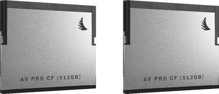 Angelbird AV PRO R550/W490 CFast 2.0 CompactFlash Card 512GB, 2er-Pack (AVP512CFX2)