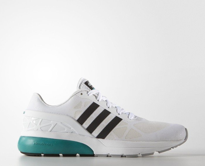 the latest 20470 5700c adidas Cloudfoam Flow ftwr white core black eqt green (Herren) (AQ1315