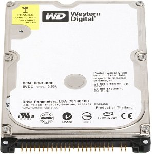 Western Digital WD Scorpio Blue    80GB, 8MB Cache, IDE (WD800VE/WD800BEVE)