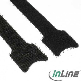 InLine Klett-Verschluss Kabelbinder, 12x330mm, 10 Stück, schwarz (59943O)