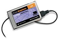 3Com 3CCE589EC Megahertz 10 Mbps LAN PC Card, 1x 10Base-T/10-Base2, PCMCIA