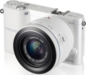Samsung NX1000 weiß mit Objektiv 16mm i-Function und 20-50mm i-Function