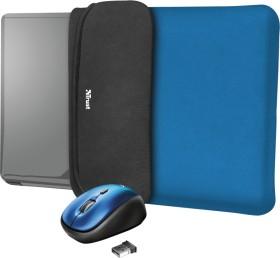 """Trust Yvo Wireless Mouse Set mit Wendehülle für 15.6"""" Laptops, blau, USB (23452)"""