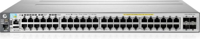 HP Aruba 3800 48G Rackmount Gigabit Managed Stack Switch, 48x RJ-45, 4x SFP+ (J9576A/E3800-48G-4SFP+)