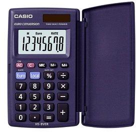 62,5 x 104x10mm Solar//Batterie Casio® Taschenrechner HS-8VER Größe