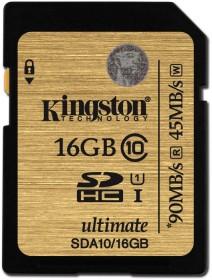 Kingston Ultimate R90/W45 SDHC 16GB, UHS-I, Class 10 (SDA10/16GB)