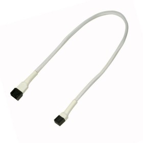 Nanoxia 3-Pin extension 30cm, sleeved white (NX3PV30W)