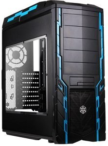 SilverStone Precision PS06 blue with side panel window (SST-PS06B-W)