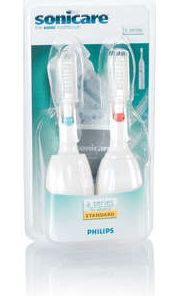 Philips HX4002 Sonicare Advance replacement toothbrush heads medium, 2-pack