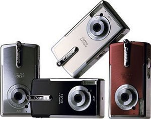 Canon cyfrowy Ixus i srebrny (różne zestawy)