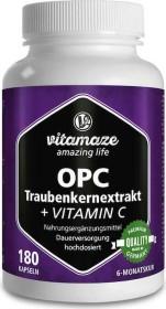 Bild Vitamaze OPC Traubenkernextrakt hochdosiert + Vitamin C Kapseln,  180 Stück