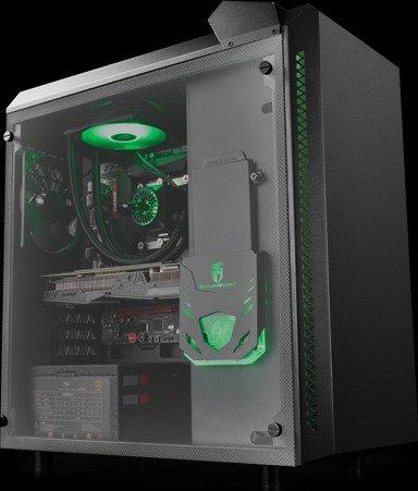 DeepCool Gamer Storm Baronkase Liquid schwarz, Glasfenster (DP-MATX-BNKSBK-LQD)