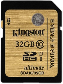 Kingston Ultimate R90/W45 SDHC 32GB, UHS-I, Class 10 (SDA10/32GB)